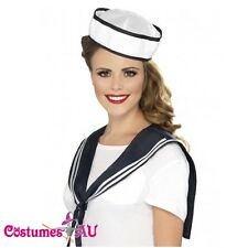 Ladies Sailor Instant Kit Scarf Hat Fancy Dress Costume Navy Outfit Accessories