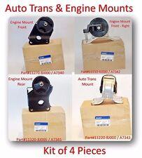 set 4 pcs Engine & AutoTransmision Mount fits 2002-2006 Nissan Altima L4 2.5L