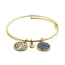 Chrysalis Sapphire Crystal Expandable Bangle in 14k Gold Plate, CRBT0109GPSML