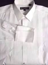 Hickey Freeman Mens Pleated Bib Formal Tuxedo Dress Shirt 17 / 34 French Cuffs