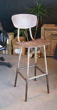 VINTAGE INDUSTRIALE Bar Stool Chair anticato Ferro Arrugginito