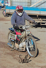 SCOTT ANDERSON HAND SIGNED SCUNTHORPE SCORPIONS 12x8 PHOTO SPEEDWAY.