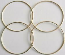 "4 x 5"" Brass Coated Metal Dreamcatcher/Macrame Craft Hoop/Ring & Free Waxed Cord"