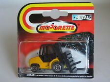 MAJORETTE #273 FORK LIFT TRUCK CHARIOT ELEVATEUR YELLOW & BLACK W/LEMON BASE MOC