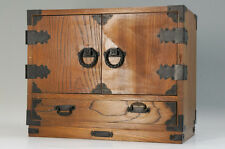 Free Shipping Japanese Antique-style KOTANSU Wood Small Chest Double Door 654f06