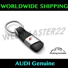 Audi S Sport S1 S2 S3 S4 S5 S6 S7 S8 Key Chain Metal & Black Leather GENUINE