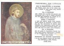 """CARTOLINA  PROPAGANDA R.S.I.  """" S. FRANCESCO D' ASSISI """" PREGHIERA PER L' ITALIA"""