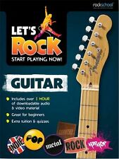 Lets Rock Guitar Start Playing Now Play Beginner LEARN GUITAR Lesson Music Book