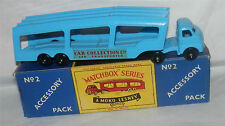 Moko.Lesney Matchbox.BPW.ACCESSORY 2 CAR TRANSPORTER RED Lettering.MIB