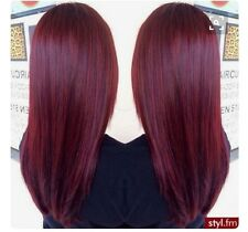 Burgundy 118 Straight 24in Clip In Synthetic Hair Extension BNWT RRP £15