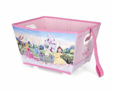 Disney Princess . Wheeled Toy Box with Pull Along Strap . Girls Roller Storage