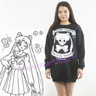 Harajuku Style Sailor Moon Girls Women Gothic Winter Sweater Skull Tops Jumpers