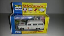 "Matchbox Modell King Size K-6b Mercedes Benz ""Binz"" Ambulance 1967 mit Repro Box"