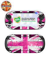 PS Vita Union Jack Vinyl Skin Decal  - Pink -  Playstation Vita Skin Stickers
