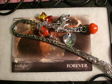 Twilight Loves Vampires Red Apple Heart Wolf Book Mark