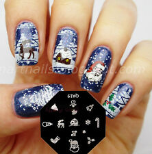 Nail Art Schablone Plates Stamping Nagel Tattoo Stamp Stempel Christmas Theme