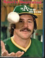 Sports Illustrated 1974 Oakland A's Catfish Hunter No Label Excellent