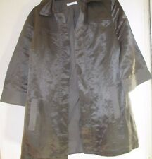72% coton/28% soie promod métallique veste marron sz6