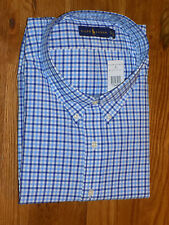 New Men's Polo Ralph Lauren Plaid Long Sleeve Shirt Size 4XLT Big & Tall