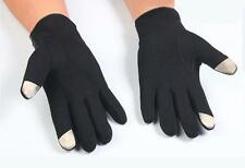 Mens Winter warm Full Finger Smartphone Touch Screen Cashmere Gloves Mittens
