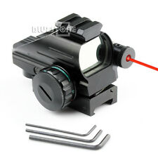 Holographic 4 Reticles Red/Green Reflex Scope & Red Laser Sight Combo 20mm Rail