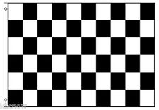 CHECKERED FLAG - Black/White - 8FT X 5FT