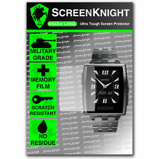 ScreenKnight Pebble Steel Smart Watch Front SCREEN PROTECTOR invisible shield