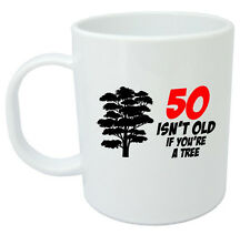 50 Isn't Old Tree Mug, Mens 50th birthday gifts, present, gift ideas for men