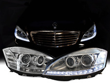 Facelift LED 07-09 Mercedes W221 S Class AFS Bi Xenon Headlight+Philips D1S Bulb