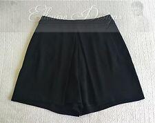 NEW! CUE Black High Waist Pleat Classy Cocktail Black Dress Short SIZE -6