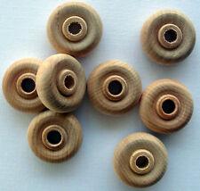 100 Wood Toy Wheels 1   Inch Diameter