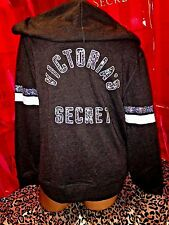 Victorias Secret Supermodel Sequin Logo Hoodie Charcoal Gray XS