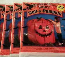 "(10) 45""x48"" Super Stuff-A-Pumpkin Halloween Leaf Bags FREE EXPEDITED SHIPPING!"