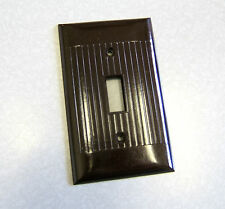 ANTIQUE ART DECO SIERRA DK BROWN BAKELITE SWITCH PLATE COVER NOS