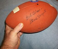 GOD BLESS STEVE LARGENT AUTOGRAPH SIGNED FOOTBALL HERO OKLAHOMA SOONER RECEIVER