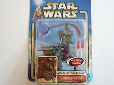 STAR WARS ATTACK OF THE CLONES DESTROYER DROID GEONOSIS HASBRO 2002 FIGURINE FIG