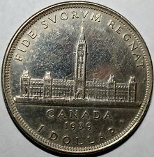 1939 CANADA $1 MS / UNC-KM 38-FREE USA SHIP-.800 SILVER! ONE DOLLAR SILVER