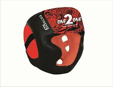One2One MMA Head Guard Helmet Training Boxing Kick Sparring Gear Face Protector