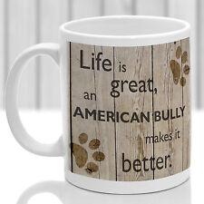 American bully mug, american bully cadeau, idéal cadeau pour dog amant