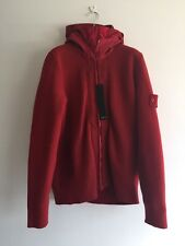 STONE ISLAND 549C8 Ghost Piece President Knit Jacket - Red Size M RRP £625