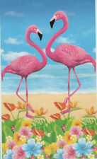 TROPICAL BIRDS FLAMINGOS Scene Setter LUAU party wall  door poster decoration