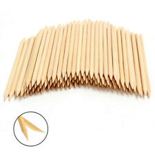 100X Nail Art Design Orange Wood Stick Cuticle Pusher Remover Manicure Care HOT
