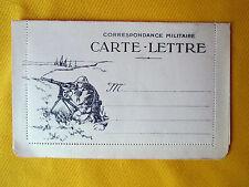 CARTE LETTRE CORRESPONDANCE MILITAIRE GUERRE 14/18 MITRAILLEUR  ARTILLEUR WW1