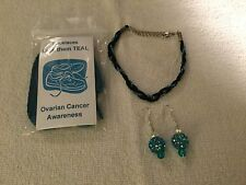 Ovarian Cancer Bracelet, Earrings & Shoe Laces    Free Shipping