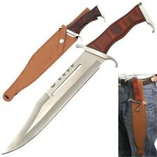 15-1/2 inch Rambo 3 Style Survival / Bowie Knife Machete & Leather Sheath .