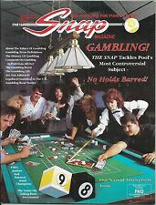 Sept-Oct 1991 Snap Magazine for Pool Players. Cover: Gambling