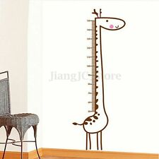 Removable Kids Child Growth Chart Height Measure Giraffe Wall Sticker Home Decor