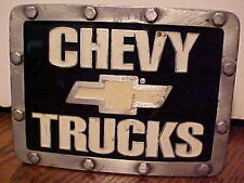 VINTAGE 2002 BERGAM0T CHEVY TRUCKS 2 INCH TRAILER HITCH COVER, MADE IN THE U.S.A