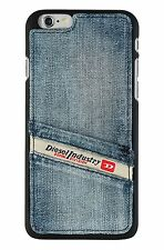 Diesel Pluton poche snap case pour iPhone 6 6s-bleu indigo denim