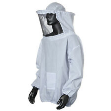 Protective Beekeeping Jacket Veil Smock Equipment Bee Keeping Hat Sleeve Suit LE